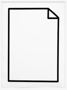 Johannes Bendzulla, Ohne Titel (papiersymbol), 2012, inkjet print on hand made paper, 78x57cm, ed5