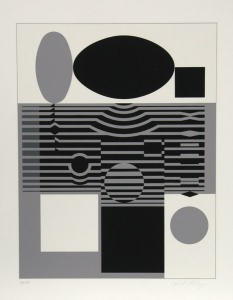 Victor Vasarely, Clarities_Laika, 1970