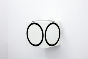Channa Horwitz, Circles on a Cube, 1968_2011,