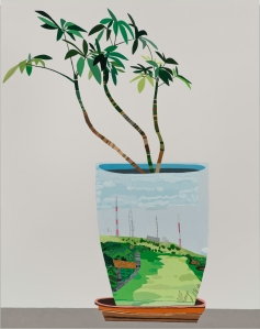 Jonas Wood, Landscape Pot, 2014
