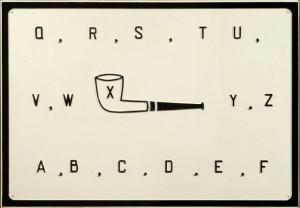 marcel broodthaers, Pipe, 1969