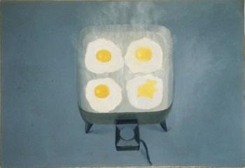 Vija Celmins, Eggs, 1964