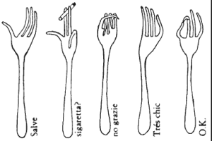 Bruno Munari Talking Forks 1958