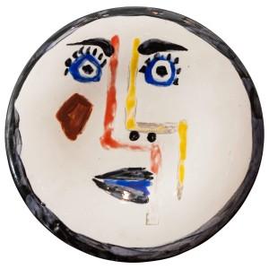 Pablo Picasso, 'Visage No. 192' ('Face') Ceramic Plate, 1963