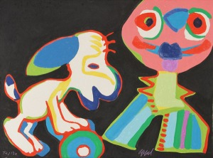 Karel Appel, The Circus Suite, Sur la Piste de Manhattan from Portfolio II, 1978